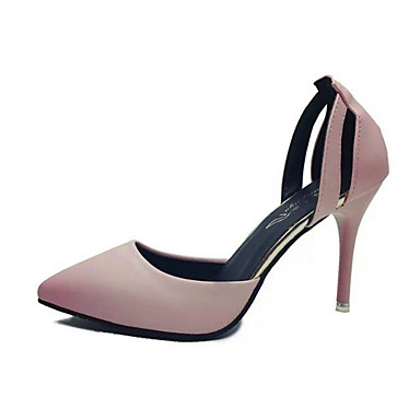 Womens Shoes Leatherette Spring Summer Basic Pump Comfort Heels Stiletto  Heel Pointed Toe for Office  Career Black Blue Pink 6648272 2018  1999