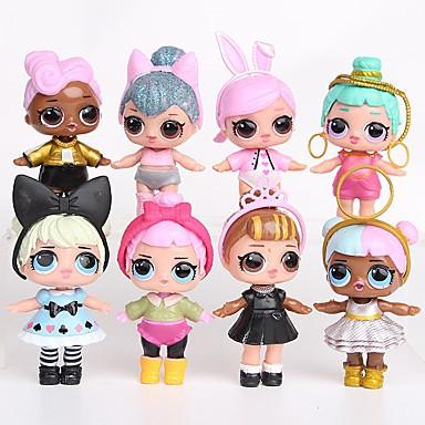 preiswerte Tierische Actionfiguren-Tronzo 8Pcs/Bag Kawaii Boneca Tier-Actionfiguren lieblich Menschen Plastikschale Anime Prinzessin 8 pcs Erwachsene Jungen Mädchen Spielzeuge Geschenk