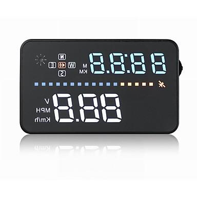 billige Bil Elektronikk-A3 5.6 tommer (ca. 14cm) LED Med ledning Hodet opp skjerm LED-indikator Alarm Lysstyrkejustering Multifunksjonell skjerm Plug and play til