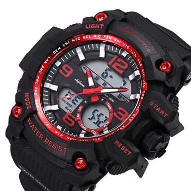 levne Pánské-SHIFENMEI Pánské Sportovní hodinky japonština Digitální Černá 30 m Kalendář Hodinky na běžné nošení Velký ciferník Analog - Digitál Luxus Módní - Červená Zelená Světle modrá / Maxell2025
