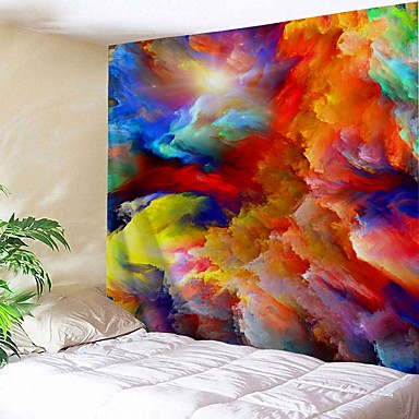 cheap Wall Tapestries-Wall Tapestry Art Decor Blanket Curtain Picnic Tablecloth Hanging Home Bedroom Living Room Dorm Decoration Abstract Coloful Pattern