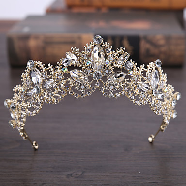 cheap Hair Jewelry-Women's Hair Jewelry For Wedding Engagement Wedding Geometrical Crystal Alloy Gold 1 pc