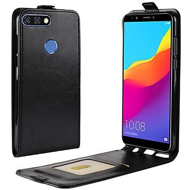 Etui Til Huawei Y9 (2018)(Enjoy 8 Plus) / Huawei Y7 Prime(Enjoy 7 Plus) / Y7 Prime (2018) Kortholder / Flipp Heldekkende etui Ensfarget Hard PU Leather