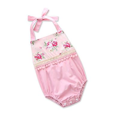 preiswerte Einteiler für kleine Mädchen-Baby Mädchen Aktiv Alltag / Ausgehen Blumen / Druck Rückenfrei / Quaste / Stilvoll Ärmellos Baumwolle Body Rosa / Niedlich