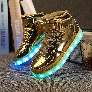 preiswerte Schuhe für Kinder-Jungen / Mädchen Leuchtende LED-Schuhe PU Sneakers Kleine Kinder (4-7 Jahre) / Große Kinder (ab 7 Jahren) LED Weiß / Schwarz / Silber Sommer / Hochzeit / TR