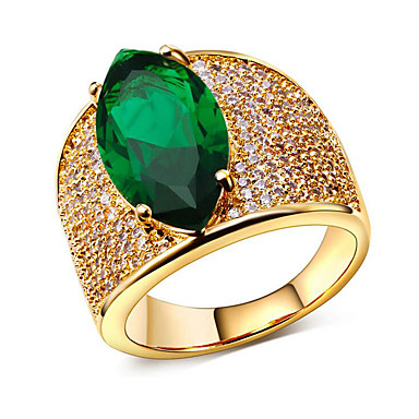 billige Motering-Dame Parringer Kubisk Zirkonium liten diamant Sølv Grønn Blå Kobber Gullbelagt Spiss Form Dainty damer Europeisk Fest Gave Smykker