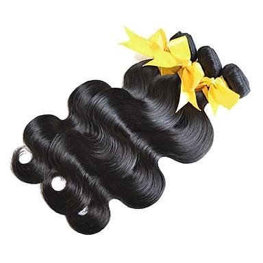 povoljno Ekstenzije za kosu-3 paketa Mongolska kosa Tijelo Wave Virgin kosa Outlet brendova Crna Prirodna boja Isprepliće ljudske kose Rasprodaja Za crnkinje 100% Djevica Proširenja ljudske kose / 10A