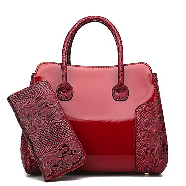 2e1a5bd89b Women s Bags Faux Leather   Synthetic Leather Tote Embossed Crocodile Black    Red   Brown 6623327 2019 –  39.99