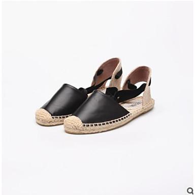 Mujer Zapatos Cuero de Napa Verano Confort Zapatillas y flip-flops Tacón Plano Dorado HOvb5