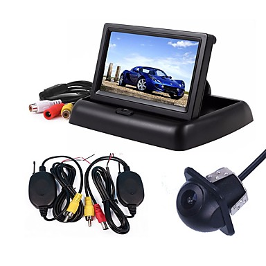 Ziqiao 3 i 1 trådløs parkering kamera monitor video system folding sammenleggbar bilmonitor med bakre kamera kamera trådløst sett
