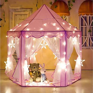Σκηνές και τούνελ παιχνίδια Σπιτάκι για παιχνίδι Κάστρο Πριγκίπισσα Λάμπει στο σκοτάδι Stea Πριγκίπισσα Υφάσματα Παιδικά Αγορίστικα Κοριτσίστικα Παιχνίδια Δώρο 1 pcs