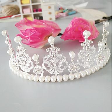 Imitert Perle / Legering Tiaras med Imiterte Perler / Krystall / Rhinestone 1pc Bryllup / Spesiell Leilighet Hodeplagg