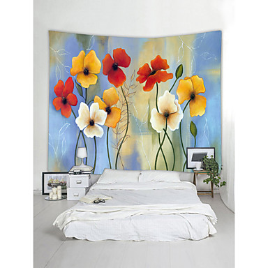 cheap Wall Tapestries-Wall Tapestry Art Decor Blanket Curtain Picnic Tablecloth Hanging Home Bedroom Living Room Dorm Decoration Still Life Plant Floral Flower