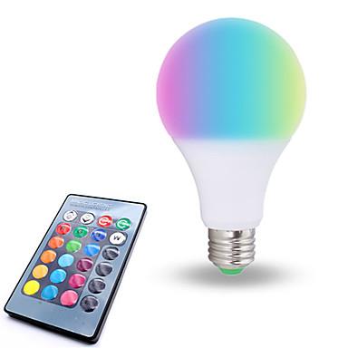 1pc 10 W Smart LED-lampe E26 / E27 6 LED perler SMD 5050 Mulighet for demping Fjernstyrt Dekorativ RGBW 85-265 V / RoHs