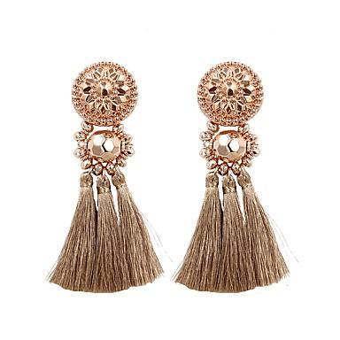 povoljno Modne naušnice-Žene Viseće naušnice naušnice Rese dame Kićanka Moda Elegantno Naušnice Jewelry Light Pink / Rose Gold / Tamno zelena Za Dar Dnevno