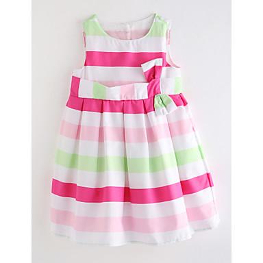 a2351692b86b Toddler Girls  Basic Daily Striped Cotton   Linen Dress Red   Cute 6615003  2019 –  14.17