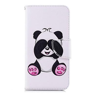 Etui Til Huawei Huawei P20 / Huawei P20 lite / P10 Lite Lommebok / Kortholder / med stativ Heldekkende etui Panda Hard PU Leather