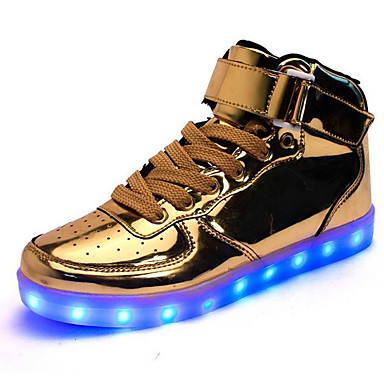 Muškarci Svjetleće cipele Eko koža Proljeće / Jesen LED Sneakers Non-klizanje Zlato / Srebro / Vanjski
