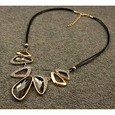 povoljno Modne ogrlice-Kristal Ogrlice s privjeskom Elegantno Legura Sive boje 45 cm Ogrlice Jewelry Za Vjenčanje Večer stranka