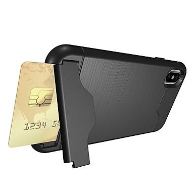 Etui Til Apple iPhone X / iPhone 8 Plus / iPhone 8 Kortholder / Støtsikker / med stativ Bakdeksel Rustning Myk TPU