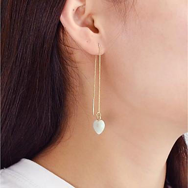 povoljno Modne naušnice-Viseće naušnice Srce dame Moda Naušnice Jewelry Obala / Zelen / Pink Za Dnevno Spoj