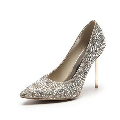 Vue Rabais Meilleur Prix Prix Pas Cher Mujer Zapatos Semicuero Primavera / Otoño Confort Tacones Tacón Stiletto Dedo Puntiagudo Dorado / Plata / Rosa / Fiesta y Noche kFXkb0wywy
