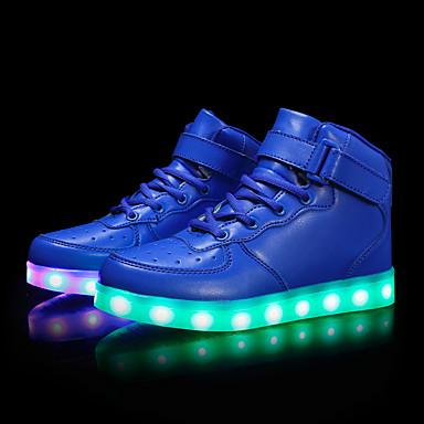 เด็กผู้ชาย / เด็กผู้หญิง Light Up รองเท้า PU รองเท้าผ้าใบ เด็กวัยหัดเดิน (9m-4ys) / เด็กน้อย (4-7ys) / Big Kids (7 ปี +) LED สีดำ / ฟ้า / สีชมพู ฤดูร้อน