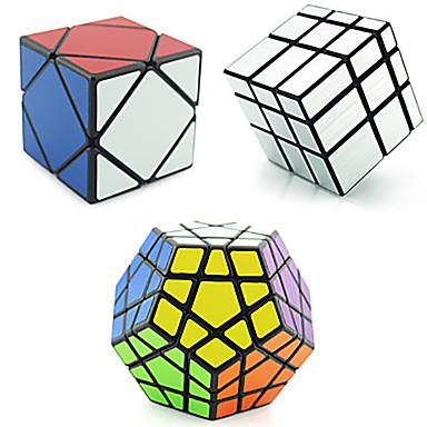 preiswerte Zauberwürfel-3 Stück Magischer Würfel IQ - Würfel Shengshou Pyramid Alien Megaminx 3*3*3 Glatte Geschwindigkeits-Würfel Magische Würfel Zum Stress-Abbau Bildungsspielsachen Puzzle-Würfel Geschwindigkeit