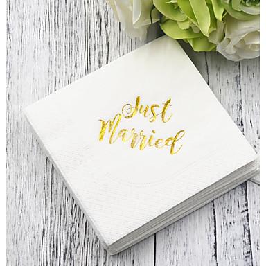 preiswerte Servietten für die Hochzeit-Reines Papier Hochzeit Servietten - 5pcs Dinner-Servietten Hochzeit Valentinstag Klassisch