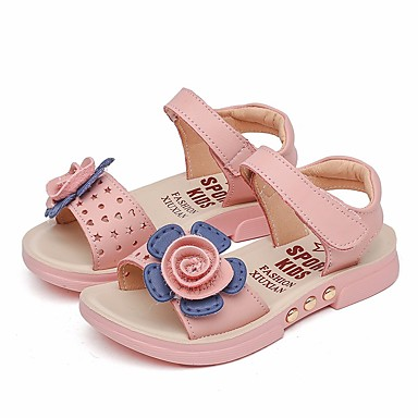 Girls Shoes Pupolyurethane Summer Flower Girl Shoes Sandals For