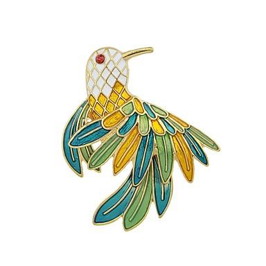 levne Dámské šperky-Dámské Brože Parrot dámy Základní Módní Brož Šperky Zelená Pro Denní Rande