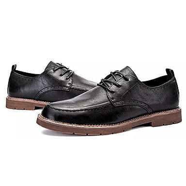 Hombre Zapatos PU Otoño Confort Oxfords Dorado / Negro / Marrón mw7MIbyHHt