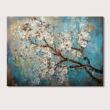 Peinture à l'huile Hang-peint Peint à la main - Paysage A fleurs / Botanique Moderne Sans cadre intérieur / Toile roulée