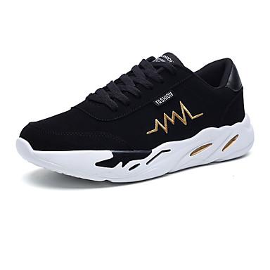 Hombre Zapatos Tela Primavera & Otoño Confort Zapatillas de deporte Negro / Negro y Oro / Negro / Rojo hc8ZeuL2b