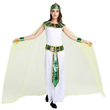 Αιγυπτιακά Κοστούμια Γιούνισεξ Halloween Στολές Για Γενέθλια Πολυεστέρας Μονόχρωμο Halloween Halloween Απόκριες Η Μέρα των Παιδιών Φόρεμα Σάλι Ζώνη / Καλύμματα Κεφαλής