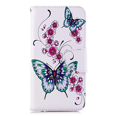 tok Για Huawei Huawei P20 / Huawei P20 lite / P10 Lite Πορτοφόλι / Θήκη καρτών / με βάση στήριξης Πλήρης Θήκη Πεταλούδα Σκληρή PU δέρμα