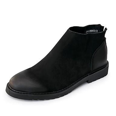 Hombre Zapatos Cuero de Napa Primavera / Otoño Botas de Combate Botas Botines / Hasta el Tobillo Negro / Marrón kIkhR