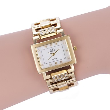 cheap Square & RectangularWatches-ASJ Women's Bracelet Watch Gold Watch Square Watch Quartz Ladies Casual Watch White / Gold Analog - Gold Silver Two Years Battery Life / Japanese / Japanese / SSUO 377