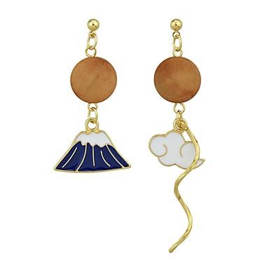 povoljno Modne naušnice-Žene Viseće naušnice neprilagođeno oblaci dame Naušnice Jewelry Zlato Za Dar Spoj