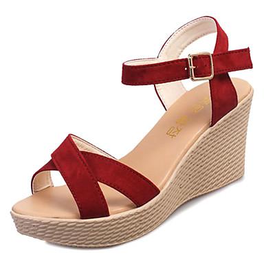 Womens Wedge Heels Rubber Spring Comfort Sandals Wedge Heel Black