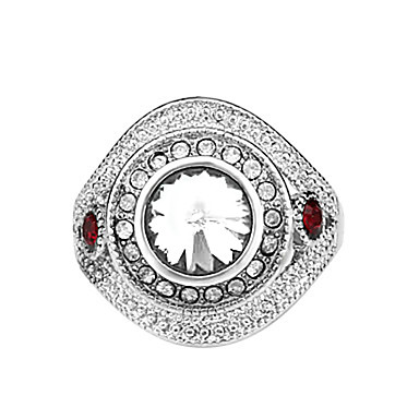 billige Motering-Dame Statement Ring vikle ring Rød Grønn Blå Fuskediamant Legering Luksus Mote vestlig stil Fest Daglig Smykker / Strass