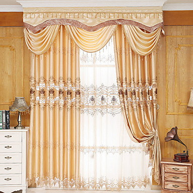 Sheer Curtains Shades Bedroom Solid Colored Cotton Polyester Printed 6634335 2018 4599