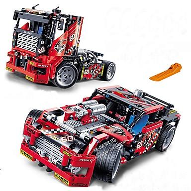 בלוקים צבאיים בלוקים צבאיים 608 מחשבים רכב תואם Legoing מעודן משאית גזע מכונית צעצועי בנות 'צעצוע מתנה