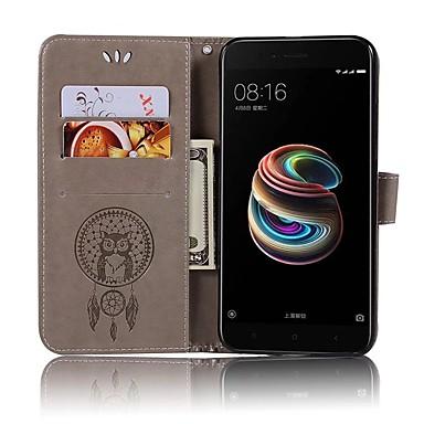 tok Για Xiaomi Xiaomi Mi 6 / Xiaomi Mi 5X / Xiaomi Mi 5s Πορτοφόλι / Θήκη καρτών / Ανοιγόμενη Πλήρης Θήκη Κουκουβάγια Σκληρή PU δέρμα