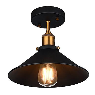 diameter 26cm industrielt taklampe semi flush vintage metall 1-lys taklampe spisestue kjøkken lys