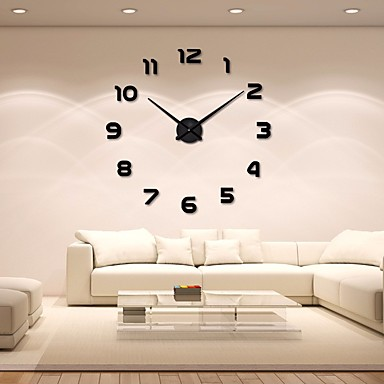 cheap Wall Clocks-Modern / Contemporary Acryic / Polyester Stainless steel Round Indoor / Outdoor,AA Batteries Powered AA Wall Clock