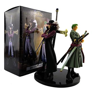 povoljno Anime figurice-Anime Akcijske figure Inspirirana One Piece Dracula Mihawk Roronoa Zoro PVC 20 cm CM Model Igračke Doll igračkama