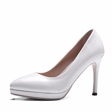 La Sortie Mieux 100% Garanti Mujer Zapatos Encaje / PU Primavera / Otoño Confort / Pump Básico Tacones Tacón Stiletto Blanco QphPSEMr