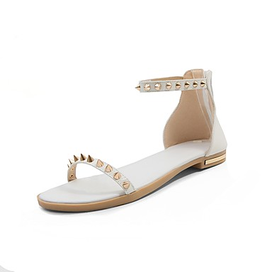 Mujer Zapatos Semicuero Verano Confort / Gladiador Sandalias Tacón Plano Puntera abierta Pedrería Negro Qualité Supérieure Jeu Exclusif 4DUEak