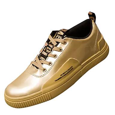 Hombre Zapatos Goma Primavera / Otoño Confort Oxfords Dorado / Negro / Plata / Zapatos De Vestir aJohvh